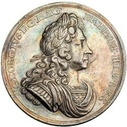 Great Britain. Coronation Medal, 1714. NGC AU53