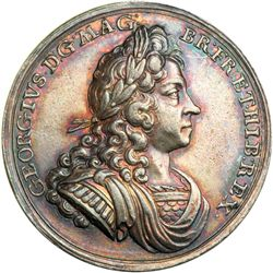 Great Britain. Coronation Medal, 1714. NGC AU55