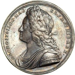 Great Britain. Coronation Medal, 1727. NGC EF45