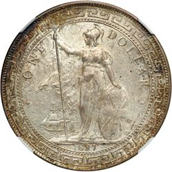 Great Britain. Trade Dollar, 1897/6-B. NGC AU58