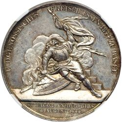 Switzerland. Medal, 1844. NGC MS61
