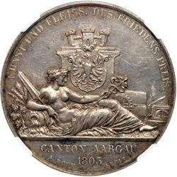 Switzerland. Medal, 1849. NGC AU58