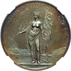 Switzerland. Medal, 1851. NGC MS62