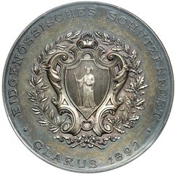 Switzerland. Medal, 1892. NGC UNC