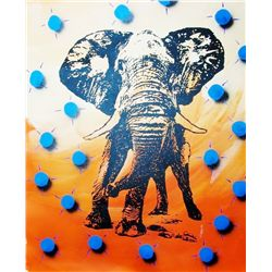 Sunset Elephant Canvas POP Art Original RARE LIQUIDATE