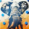 Image 2 : Sunset Elephant Canvas POP Art Original RARE LIQUIDATE