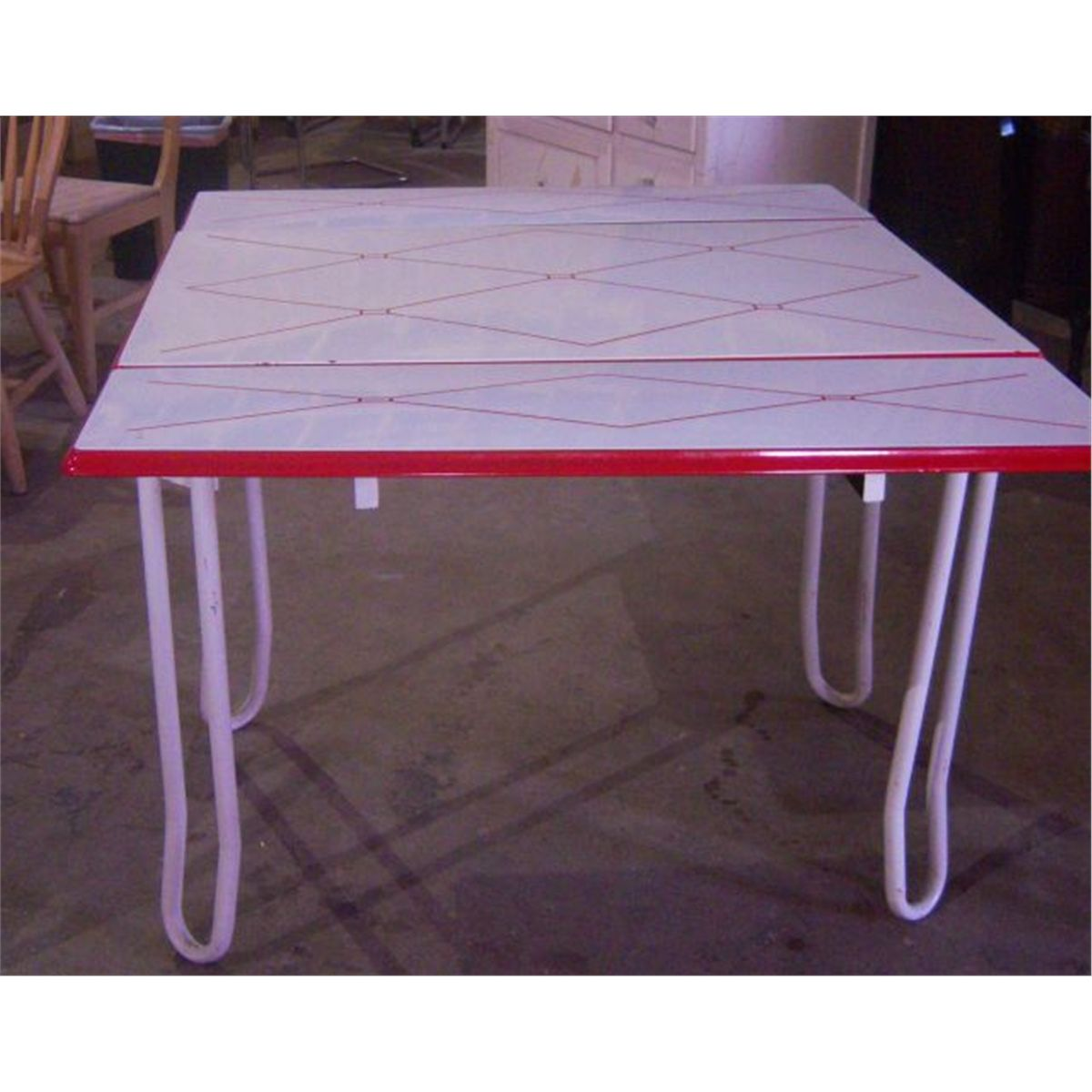 Metal Dining Table W/ 2 Slide Out Leaves