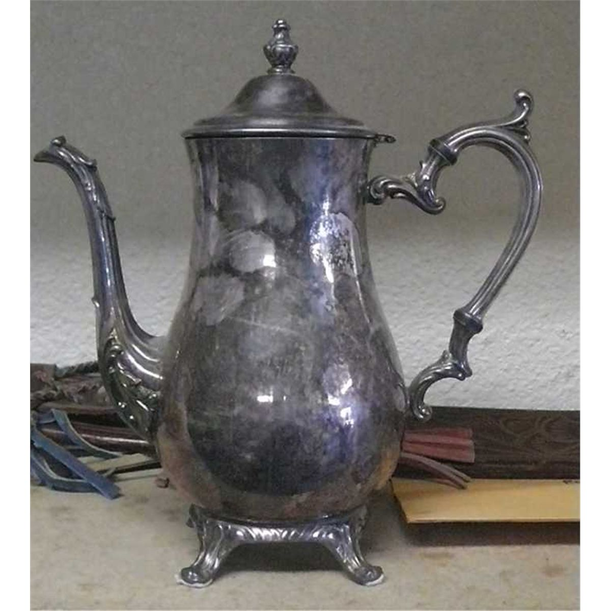 Silver (Plated?) Coffee Urn, Marked WM Rogers 800 .