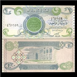 1992 Iraq 1 Dinar Crisp Uncirculated Note (CUR-05908)