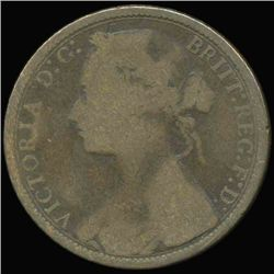 1874 GB QV 1p Better Circulated Scarce Variety (COI-7219)