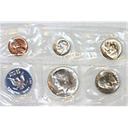 1965 SMS Mint Set Includes the PL Special Mint Set coins. The 40% silver half is included