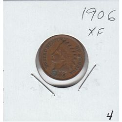 1906 INDIAN HEAD CENT XF