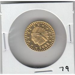 1852 INDIAN CALIFORNIAN GOLD TOKEN
