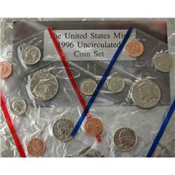1996 P&D UNCIRCULATED MINT SET INCLUDING the 1996W ROOSEVELT DIME (11 COINS)