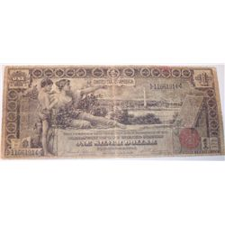 VERY RARE $1 ONE DOLLAR 1896 SILVER CERTIFICATE EDUCATIONAL US NOTE