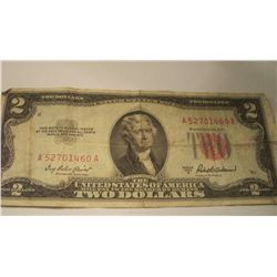 1953 -A $2 Red Seal Note