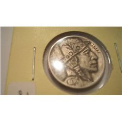 "1936-D ""Billy Jack"" Hobo Nickel Signed By J Allen"