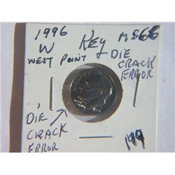 1996-W ROOSEVELT DIME
