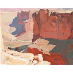 Case, G. Russell - Walls of Badger Creek - Study