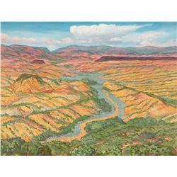 Sloan, John - View from Davenport's Studio - New Mexico