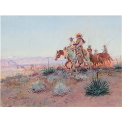 Russell, Charles M. - Mexican Buffalo Hunters