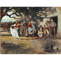 Russell, Charles M. - The Spanish Dance