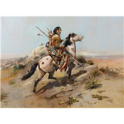Russell, Charles M. - Indian Scout on Horseback
