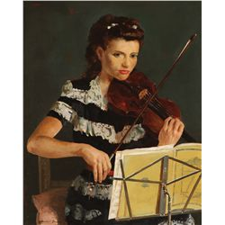 Davey, Randall - Young Woman with a Violin