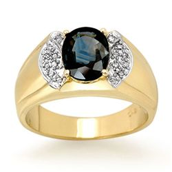Genuine 2.0 ctw Sapphire & Diamond Ring 10k Gold
