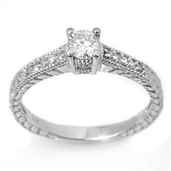 Natural 1.05 ctw Diamond Ring 14K White Gold