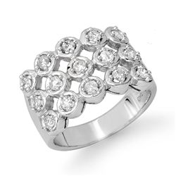 Natural 1.0 ctw Diamond Bridal Ring 14K White Gold