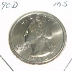 1990-D Quarter *MS HIGH GRADE*!!!