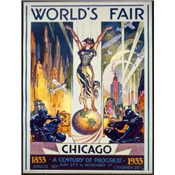 1933 Chicago Worlds Fair Century of Progress Poster