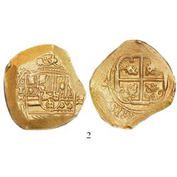 Mexico City, Mexico, cob 8 escudos, Philip V, assayer J (style of 1711-12), from the 1715 Fleet, ex-