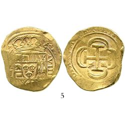 Mexico City, Mexico, cob 8 escudos, (1715)J, from the 1715 Fleet. S-M30; KM-57.2; CT-109. 26.9 grams