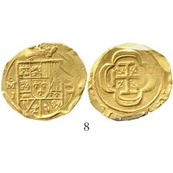 Mexico City, Mexico, cob 4 escudos, Philip V, (1714)J, from the 1715 Fleet. S-M30; KM-55.2; CT-234.