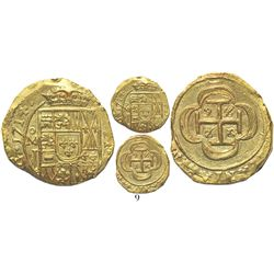 Mexico City, Mexico, cob 2 escudos, 1714J, from the 1715 Fleet. S-M30; KM-53.2; CT-350. 6.7 grams. C