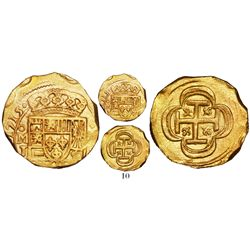 Mexico City, Mexico, cob 2 escudos, 1715J, from the 1715 Fleet, plate coin in The Practical Book of