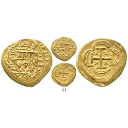 Mexico City, Mexico, cob 2 escudos, (1715J), from the 1715 Fleet. S-M30; KM-53.2; CT-351. 6.6 grams.