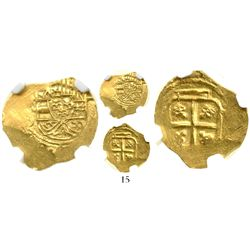 Mexico City, Mexico, cob 1 escudo, Philip V, assayer J, style of 1705-10, from the 1715 Fleet, encap