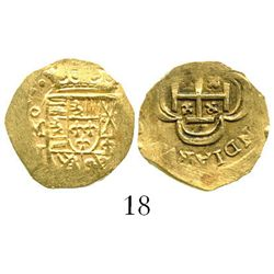 Mexico City, Mexico, cob 1 escudo, (171)4J, from the 1715 Fleet. S-M30; KM-51.2; CT-510. 3.3 grams.