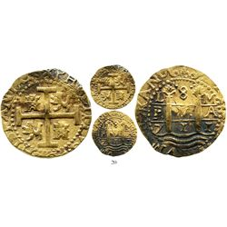 Lima, Peru, cob 8 escudos, 1711M, from the 1715 Fleet. S-L28; KM-38.2; CT-22. 26.9 grams. Good full