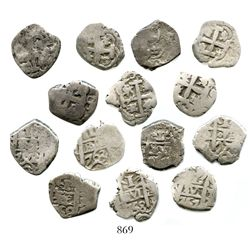 Lot of 7 Potosi, Bolivia, cob 1R of Ferdinand VI and Charles III, various dates, assayers q and V-Y