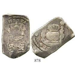 Guatemala, cob 8 reales, 175(?)(J), no hole. S-G1a; KM-12. 26.6 grams. Excellent full crown and shie