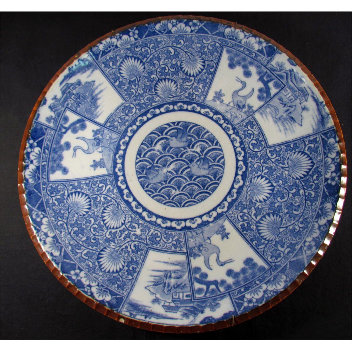 & ANTIQUE CHINESE PORCELAIN PLATE