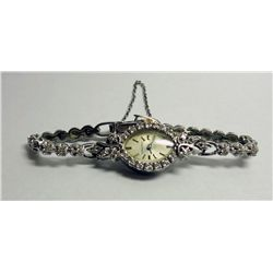 Vintage Ladies 14k Gold Longines with diamonds