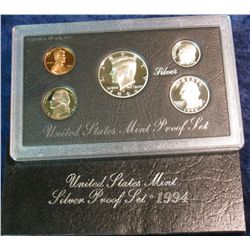 693. 1994 S US Silver Proof Set. Original as Issued.