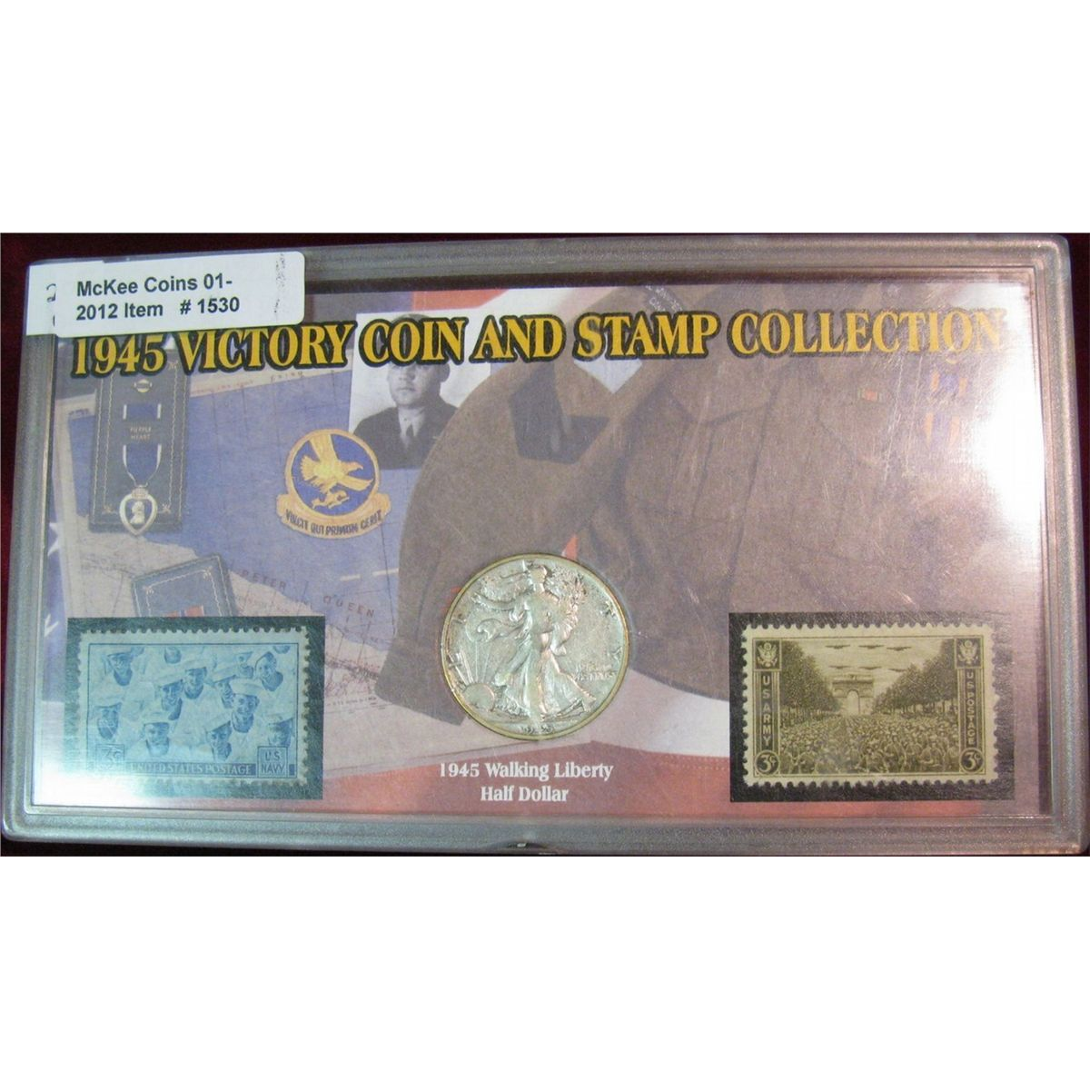 1945 victory coin and stamp collection