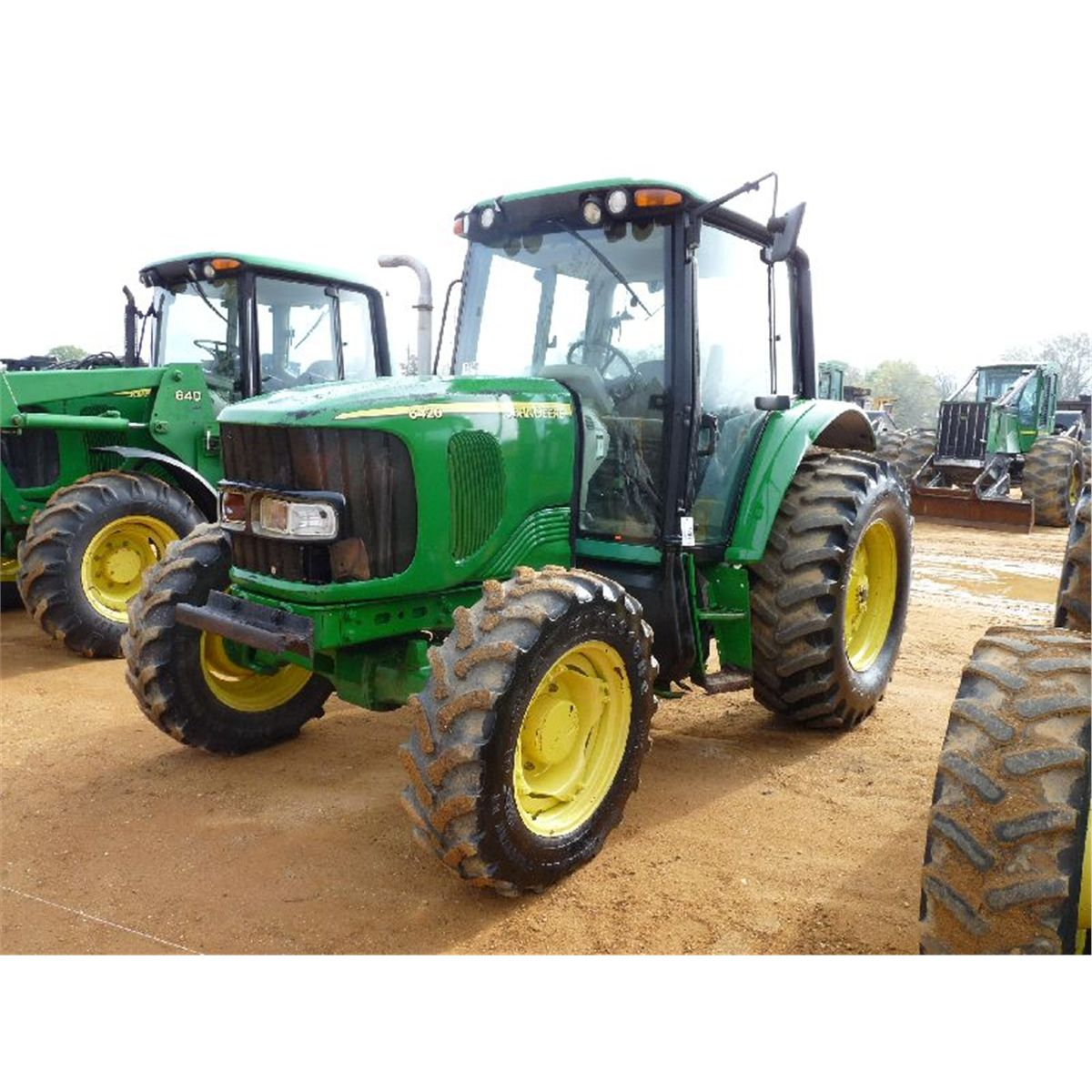 john deere 6420 4x4 farm tractor j m wood auction company inc. Black Bedroom Furniture Sets. Home Design Ideas