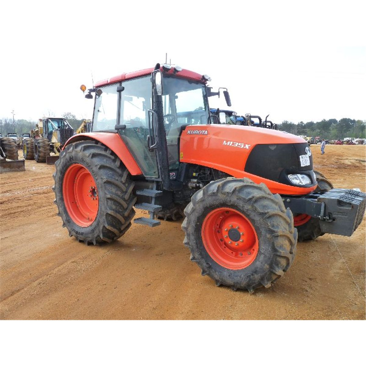 kubota m135x 4x4 farm tractor j m wood auction company inc